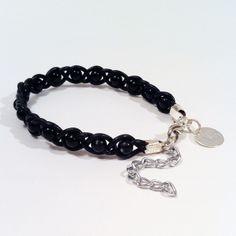 Unisex Bracelet with black pearls from Viktoria Boldt Accessoires auf DaWanda.com