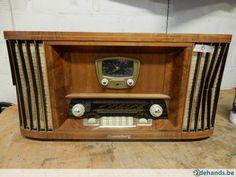 radio merk Sonneberg. Cosul met klok, met handleiding,commpl