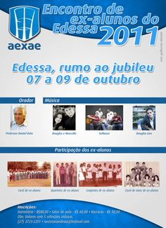 Cartaz do encontro de ex-alunos do Edessa de 2011.