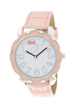 {Hello Kitty Women's Light Pink Oversized Watch} super cute!