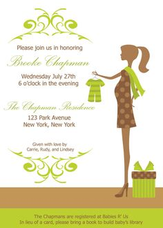 Gender neutral baby shower invitation. Modern pregnant mom!