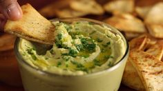 When you can't decide between guac and hummus, combine both into one yummy dip.