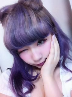 purple lavender hair