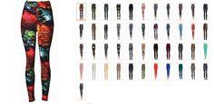 VIV Collection PLUS SIZE Printed Brushed Leggings
