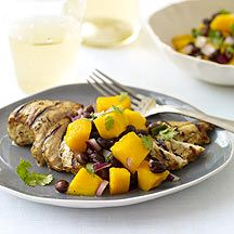 Grilled Spicy Chicken with Black Bean and Mango Salsa
