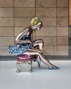 #bailarina de #jeffkoons #malba #exhibition #art #arte #sculpture #escultura #instaart #artoninstagram #museum #museo #modernart #nofilter #contemporaryart #beauty #iconic #rad #instapic #instaphoto #instashot #instamoment #instamood #light #lumiere #colorful #colors #ballerina #recoleta #buenosaires #Argentina  (en MALBA)