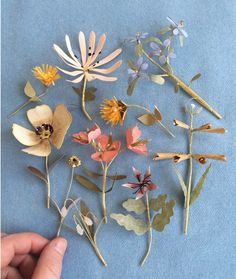 Paper flowers by Ann Wood