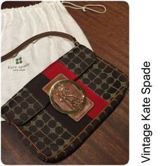 """Kate Spade Vintage Small Bag Collector's dream--early Kate Spade with 'KS' initials. Extremely well kept--no signs of wear. Includes dust bag and manufacturer's booklet. Size: 8-1/4"""" x 5-1/4"""" x 1-1/4"""". kate spade Bags Mini Bags"""