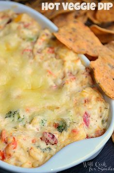 Hot Vegetable Dip, looks so good! via Will Cook for Smiles #tailgating