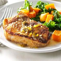 Chardonnay Pork Chops Recipe -I began perfecting these juicy chops when I moved to another state and missed my step-dad's best pork recipe. His dish inspired my version with wine sauce. —Joleen Thompson, Farmington, Minnesota