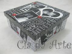 Caixa personalizada com fotos, acabamento com verniz automotivo. R$75,00