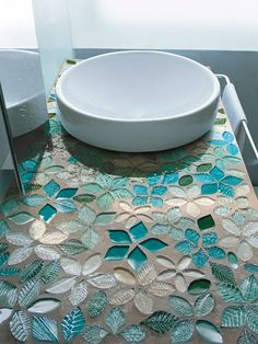 Glass #Mosaic FOGLIE FANTASIA by VETROVIVO