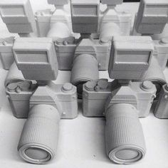 Professional Digital Cameras Recreated by Daniel Arsham #photography trendhunter.com