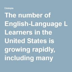 "The number of English-Language Learners in the United States is growing rapidly, including many states that have not previously had large immigrant populations. As teachers try to respond to the needs of these students, here are a few basic best practices that might help. We have found that consistently using these practices makes our lessons more efficient and effective. We also feel it is important to include a few ""worst"" practices in the hope that they will not be repeated!  Modeling Do…"
