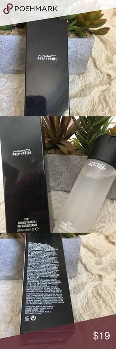 **BRAND NEW** MAC prep & prime fix + Cult favorite MAC fix+. Great to prime/prep your makeup and set your finished look. Smells amazing! 3.4 fl oz goes a long way! **bundle with other things in my closet for savings!!** MAC Cosmetics Makeup Face Primer