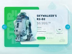 Star Wars /  R2-D2 UI by Eray Yesilyurt