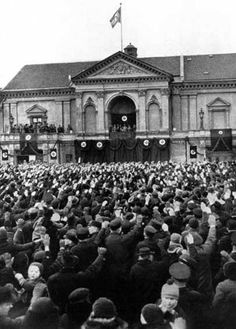 Lithuania, 24 March 1939 - Hitler making a speech in Memel the day after the ultimatum was accepted