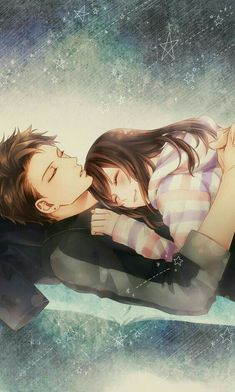 Voltage Inc. / My last first kiss Anime Couples Cuddling, Anime Couples Sleeping, Couples Anime, Romantic Anime Couples, Anime Couples Drawings, Couple Sleeping, Couple Anime Manga, Couple Amour Anime, Anime Cupples