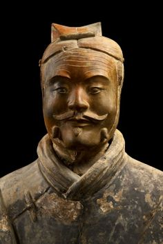 Armored military officer (detail), Qin dynasty (221–206 BCE)  Terracotta