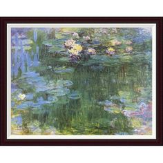 Global Gallery Waterlilies 1916 (3) by Claude Monet Framed Painting Print Size: