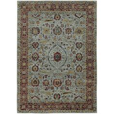 $119.25 Andorra Blue/ Red Area Rug