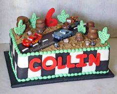Disney Pixar Cars Cake | http://rosebakes.com/disney-pixar-cars-cake-sheet-cake/