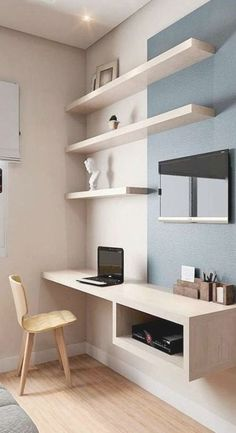 Home Office Furniture Design, Home Office Design, Home Office Decor, House Design, Home Decor, Trendy Furniture, Design Room, Bedroom Office, Dream Bedroom