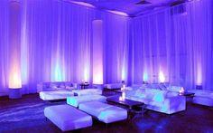 White Drapes | Up-Lighting