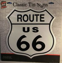 Route 66 License Tin Sign.Route 66 License Tin Sign