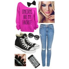 Unicorns Are My Favorite   cute girly outfit converse  sweater