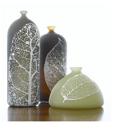 'Leaf Bottles' by Nick Chase. #plocomiGlass