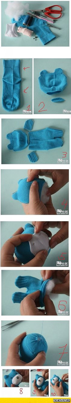 How To Make A Teddy Bear From A Sock