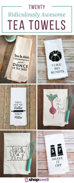 "[orginial_title] – Shopswell 20 Ridiculously Awesome Tea Towels The kitchen isn't just for cooking, it's for dancing. If you like to ""chop it like it's hot"" you need at least one (or of these ridiculously awesome tea towels. Vinyl Crafts, Vinyl Projects, Craft Projects, Circuit Projects, Project Ideas, Plotter Silhouette Cameo, Silhouette Files, Cricut Creations, Dish Towels"
