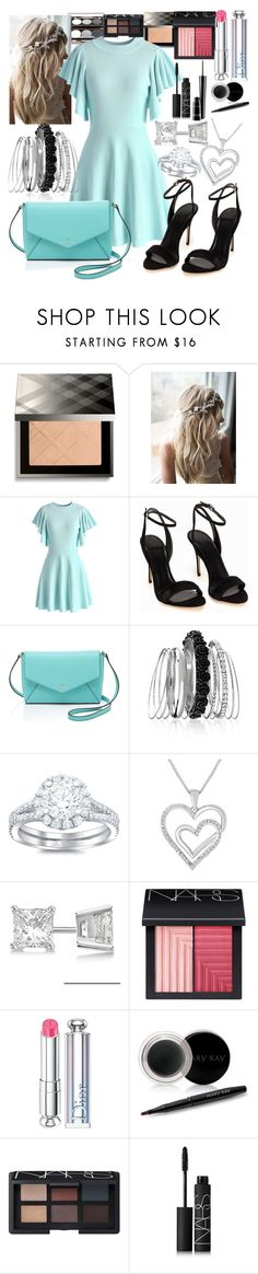 """""""Untitled #121"""" by hanafares ❤ liked on Polyvore featuring Burberry, Chicwish, Kate Spade, Avenue, Allurez, NARS Cosmetics, Christian Dior, Mary Kay and MAC Cosmetics"""