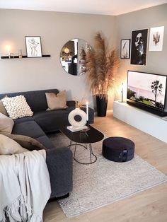 Home Room Design, Home Interior Design, Living Room Designs, Small Living Room Design, Living Room Decor Cozy, New Living Room, Living Roon, Living Spaces, Small Living Rooms