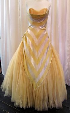 1950's Tulle Skirt Evening Gown.