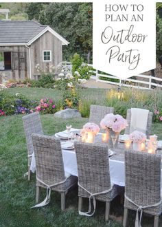 How to Plan an Extraordinary Outdoor Party | Whether you are having barbecue and beer or serving a multi-course meal, these five tips for creating an extraordinary outdoor party will create an atmosphere that will make your guests want to linger long after the sun goes down… Outdoor Projects, Outdoor Ideas, Outdoor Decor, Barn Parties, Summer Decorating, Decorating Ideas, Decor Ideas, Outdoor Living, Outdoor Rooms