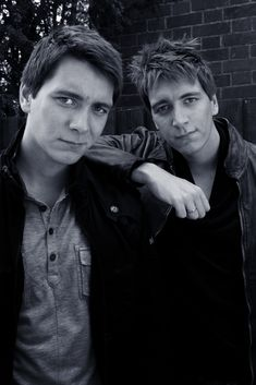 James and Oliver Phelps. My favorite kind of Phelps :)