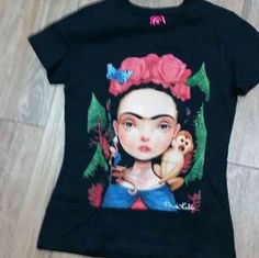 9c4f083061e T-shirt Frida Kahlo Woman  Handmade  Camisetapersonalizada T Shirts For  Women