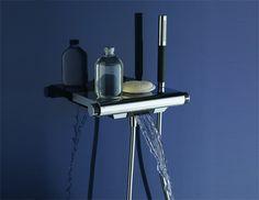 Термостат Jacob Delafon Aparu E9113-CP для ванны с душем купить в магазине Сантехника-онлайн.Ру