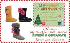 Housewife on a Mission: Fashionable Twinkle Toes Winter Boots for Girls by Skechers {Giveaway}   2014 Holiday Gift Guide