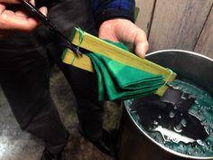Kyoto Takaokaya Itajime Shibori Dye Japanese Tie-dying Technique Visit Artisan Workshop