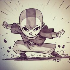 The Art of Derek Laufman Cartoon Drawings, Cartoon Art, Art Drawings, Avatar The Last Airbender Art, Avatar Aang, Game Character, Character Design, Chibi Characters, Marker Art