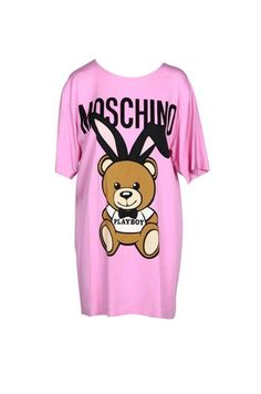 www.wolfinafashion.com Pink Patterns, Playboy, Moschino, Couture, Clothes For Women, Pattern Print, Washing Machine, Composition, Sleeves