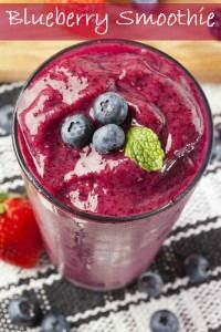 This Blueberry Smoothie is so delicious that you won't believe it's good for you! Gluten free. Paleo.