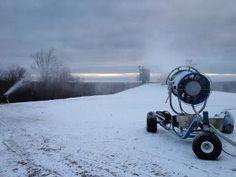 Snow making: December 2012 at Treetops Resort in Gaylord, MI #treetopsresort