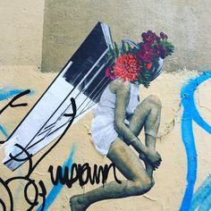 #flowers & #legs by @AnneLaureMaison #annelauremaison #femmemaison  #streetart #graffiti #graff #spray #bombing #wall