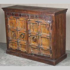 Chunky Old Door Sideboard - JUGs Indian Furniture & Gifts Indian Furniture, Brighton And Hove, Selling Furniture, Sideboard, Hardwood, Doors, Gifts, Vintage, Home Decor
