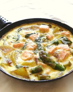 frittata au saumon et asperges vertes