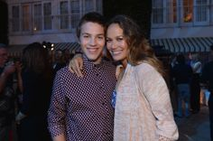 "Connor Jessup & Moon Bloodgood from the TV Show ""Falling Skies""."